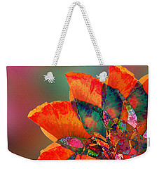Abstract Flower Weekender Tote Bag by Klara Acel