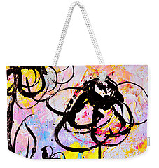 Abstract Flowers In Pink 3 Weekender Tote Bag