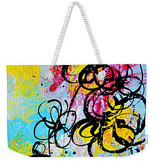Abstract Flowers Silhouette 5 Weekender Tote Bag