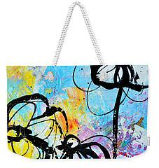 Abstract Flowers Silhouette 6 Weekender Tote Bag