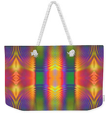 Weekender Tote Bag featuring the digital art Abstract For Today by Lyle Hatch