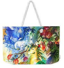Abstract Horses Weekender Tote Bag