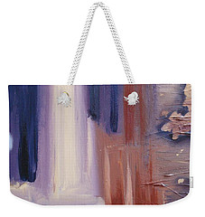 Weekender Tote Bag featuring the painting Abstract I by Donna Tuten