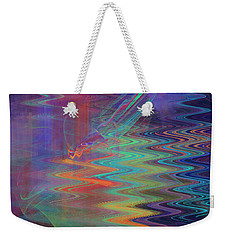 Abstract In Blue And Purple Weekender Tote Bag by Jane McIlroy