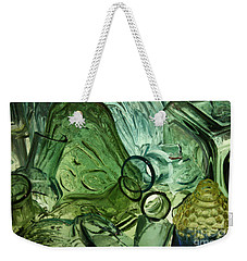 Abstract In Green Weekender Tote Bag
