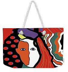 Abstract Lady Weekender Tote Bag