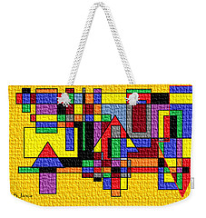 Abstract Life Story Weekender Tote Bag