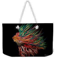 Abstract Lion's Head Weekender Tote Bag by Klara Acel