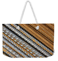 Abstract Metal Texture Pattern Weekender Tote Bag