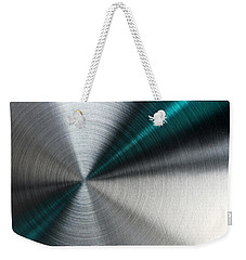 Abstract Metallic Texture With Blue Rays. Weekender Tote Bag