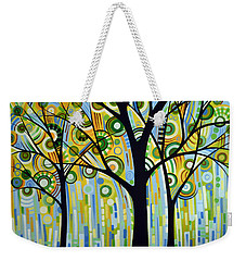 Abstract Modern Tree Landscape Spring Rain By Amy Giacomelli Weekender Tote Bag