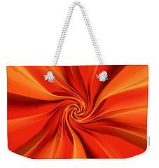 Abstract Orange Weekender Tote Bag by Jennifer Muller
