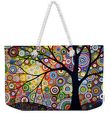 Abstract Original Modern Tree Landscape Visons Of Night By Amy Giacomelli Weekender Tote Bag