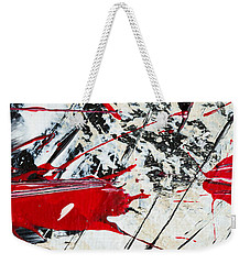 Abstract Original Painting Untitled Ten Weekender Tote Bag