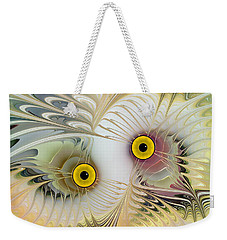 Abstract Owl Weekender Tote Bag by Klara Acel