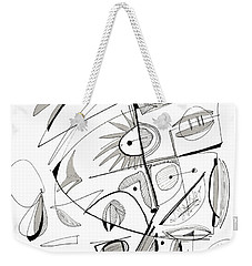 Abstract Pen Drawing Sixty-seven Weekender Tote Bag