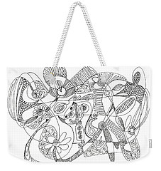 Abstract Pen Drawing Thirty-eight Weekender Tote Bag