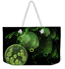 Weekender Tote Bag featuring the digital art Abstract Pond Creatures by Russell Kightley
