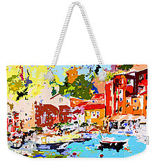 Abstract Portofino Italy Decorative Art Weekender Tote Bag