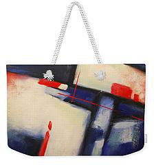 Abstract Red Blue Weekender Tote Bag