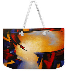 Abstract Red Blue Yellow Weekender Tote Bag