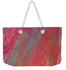 Abstract Red Rain Weekender Tote Bag