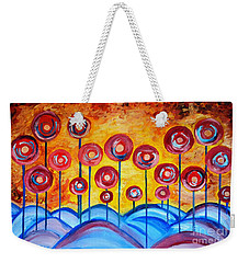Abstract Red Symphony Weekender Tote Bag
