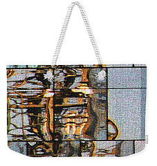 Abstract Reflection On New Glass Building At Tempe Town Lakes Weekender Tote Bag