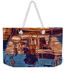 Weekender Tote Bag featuring the painting Abstract Reflections by Muhie Kanawati