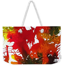 Abstract - Riot Of Fall Color II - Autumn Weekender Tote Bag by Ellen Levinson