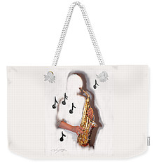 Abstract Saxophone Player Weekender Tote Bag