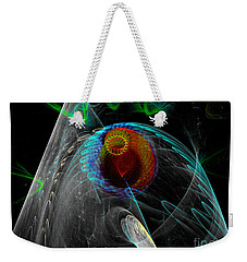 Weekender Tote Bag featuring the digital art Abstract Sea Mouth by Russell Kightley