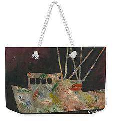 Abstract Shrimp Boat Weekender Tote Bag