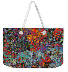 Weekender Tote Bag featuring the mixed media Abstract Spring by Ally  White