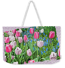 Abstract Spring Floral Fine Art Prints Weekender Tote Bag