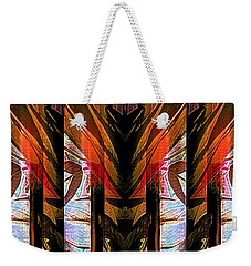 Abstract Tiki Weekender Tote Bag