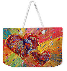 Abstract Valentines Love Hearts Weekender Tote Bag