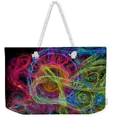 Weekender Tote Bag featuring the digital art Abstract Virus Budding Painterly 1 by Russell Kightley