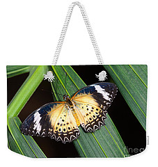 Butterfly On Leaves Weekender Tote Bag