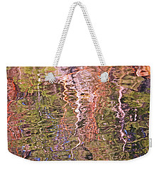 Weekender Tote Bag featuring the photograph Abstract Water Reflections 1 by Peggy Collins