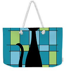 Abstract With Cat In Teal Weekender Tote Bag