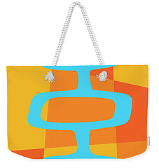 Abstract With Turquoise Pods 3 Weekender Tote Bag