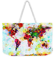 Abstract World Map Weekender Tote Bag