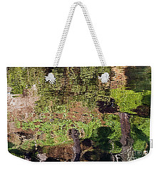 Weekender Tote Bag featuring the photograph Abstracted Reflection by Kate Brown