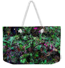 Weekender Tote Bag featuring the digital art Abstraction 121514 by David Lane