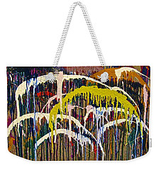 Abstracts 14 - Downtown With Umbrellas Weekender Tote Bag