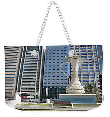 Weekender Tote Bag featuring the photograph Abu Dhabi Al Ittihad Square by Steven Richman