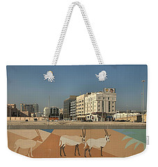 Weekender Tote Bag featuring the photograph Abu Dhabi Outskirts by Steven Richman