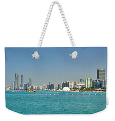 Weekender Tote Bag featuring the photograph Abu Dhabi Skyline by Steven Richman