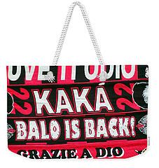 Ac Milan Fans Scarves  Weekender Tote Bag